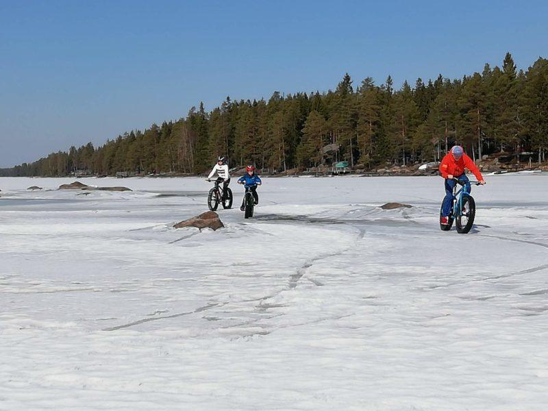 Fatbikeretki Ähtärissä.Kuva: Janne Muhonen