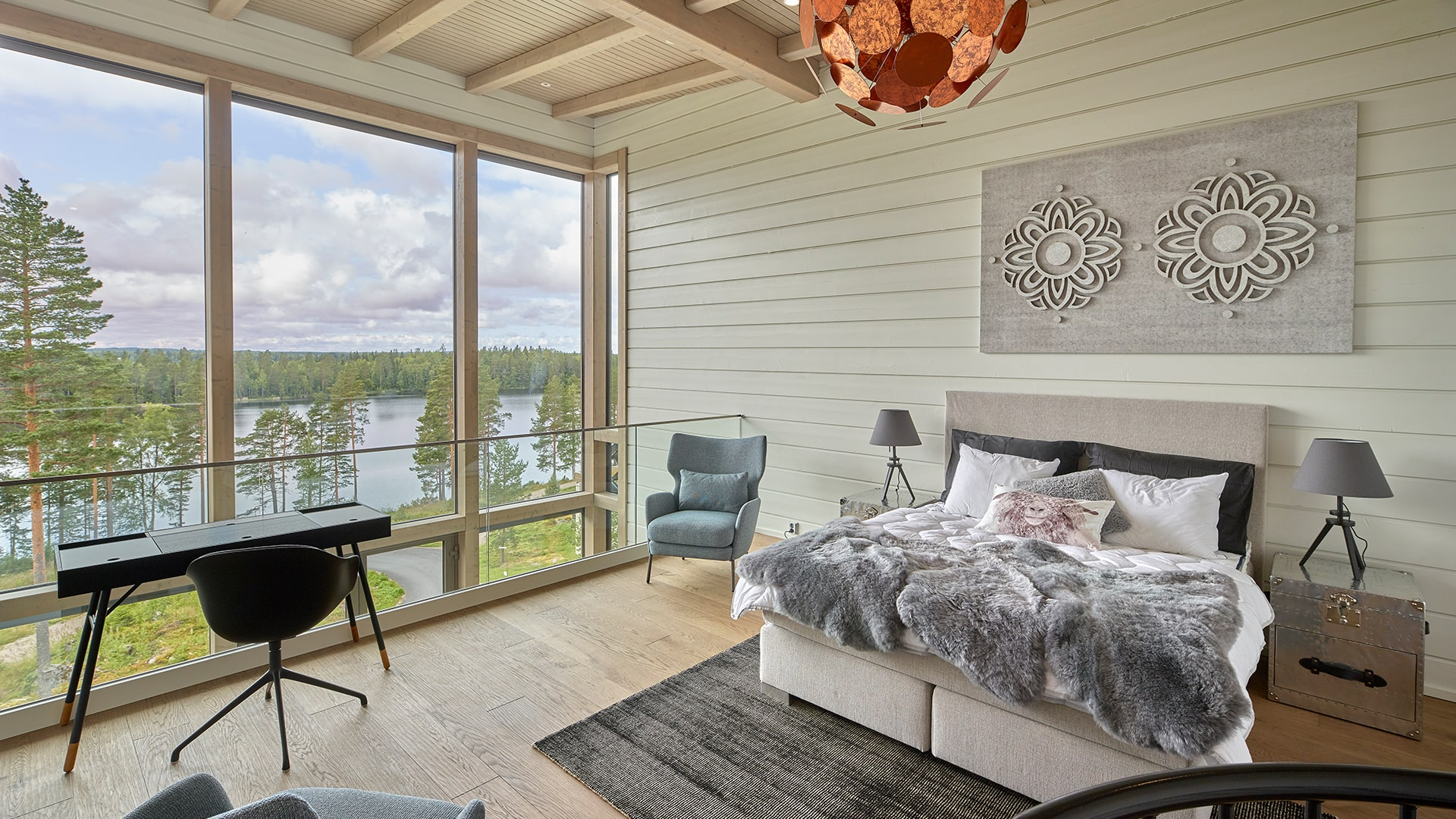 naava-chalet-303-makuuhuone-bedroom-maisema-view